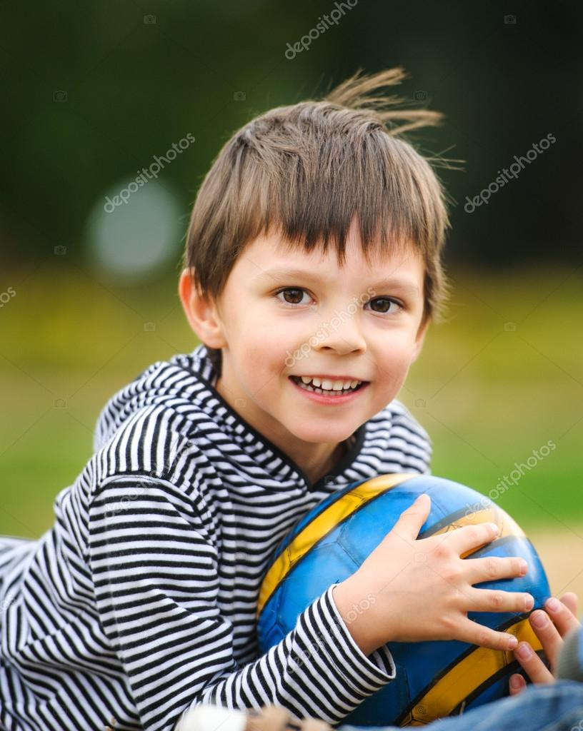 Little Boy With A Ball