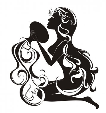 Tattoo Aquarius. Astrology sign. Vector zodiac