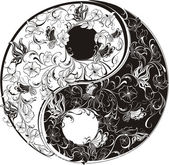 Photo Floral Yin Yang Symbol