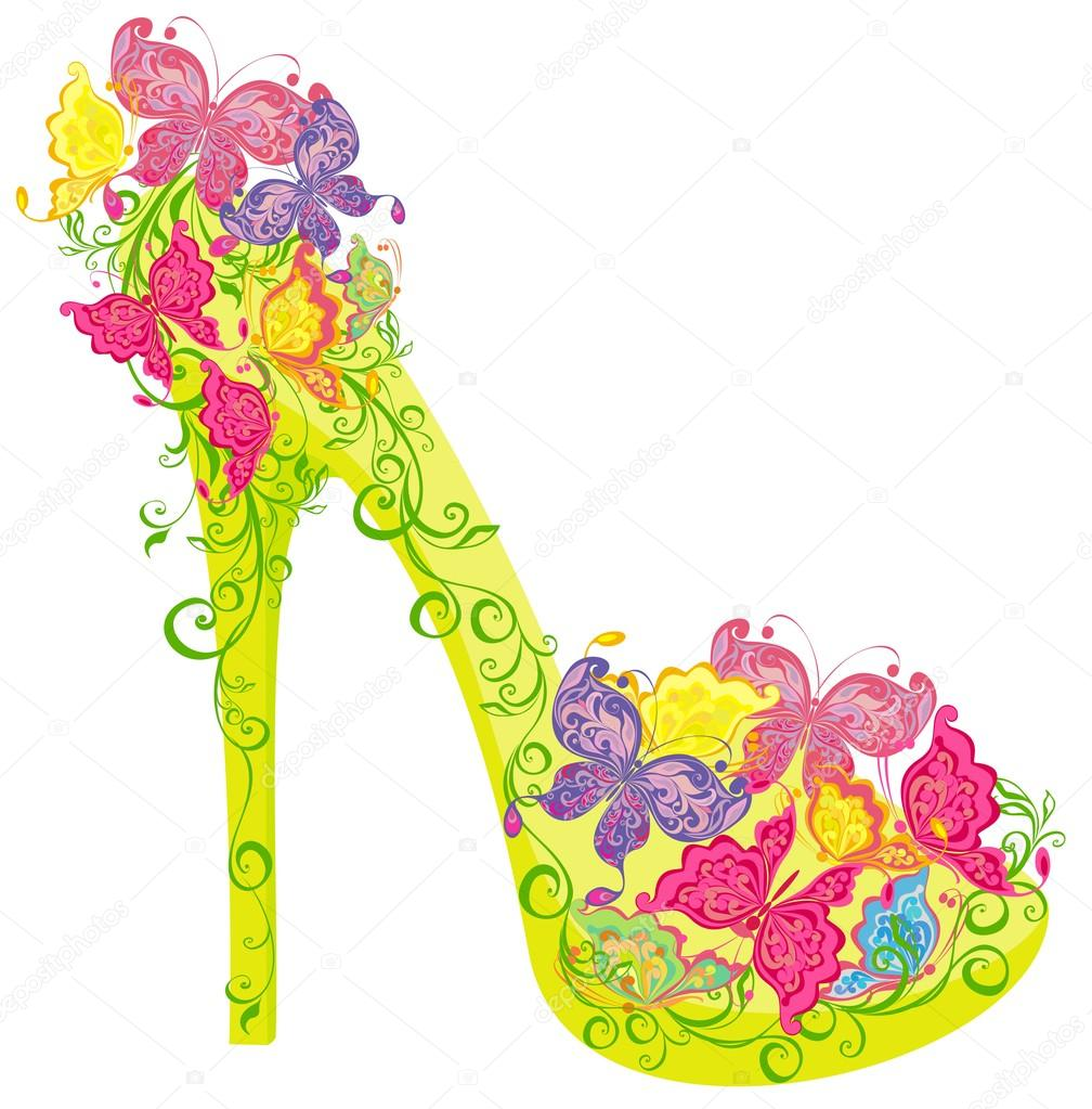 Y Adornado Flores Tacón Tacon Un Zapatos Alto FlorLos De Con rxBdoeCQWE