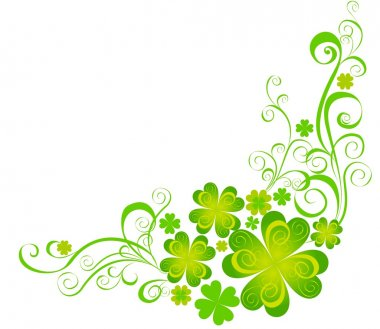 Shamrock for St.Patricks Day. Vector St. Patricks elements