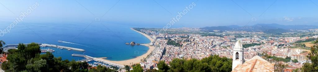 Panorama of Blanes in summertime. Costa Brava, Spain