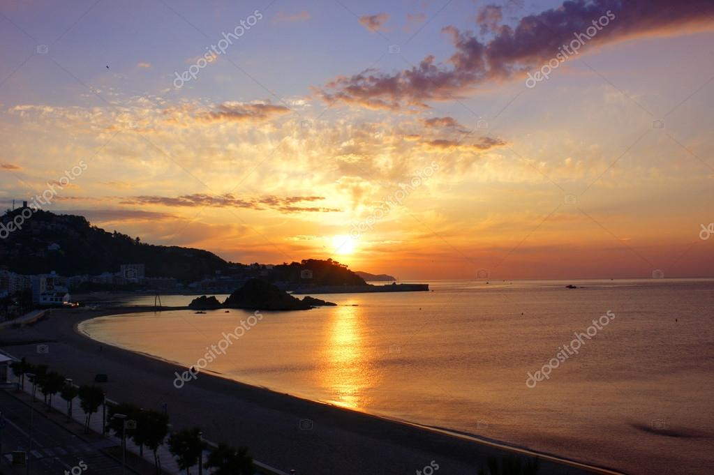 Sunrise on the Blanes. Costa Brava, Spain
