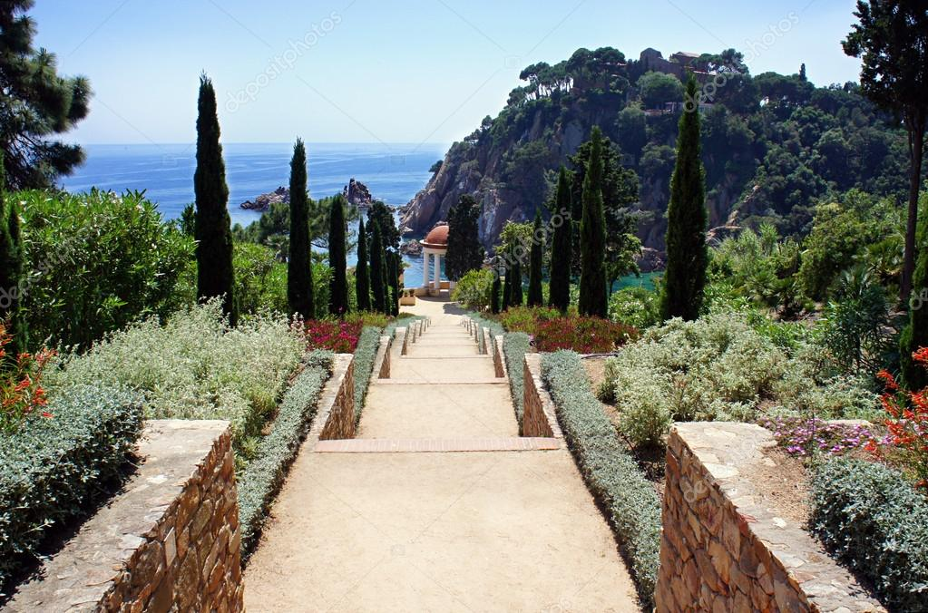 Botanic garden in Blanes, Catalonia, Spain