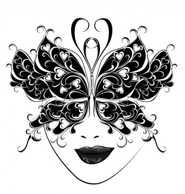 Carnival mask. Butterfly masks for a masquerade.