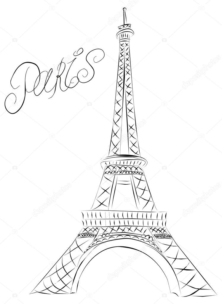 paris eiffel tower stock vector marina99 19603449. Black Bedroom Furniture Sets. Home Design Ideas