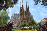 La sagrada familia v Barceloně, Španělsko