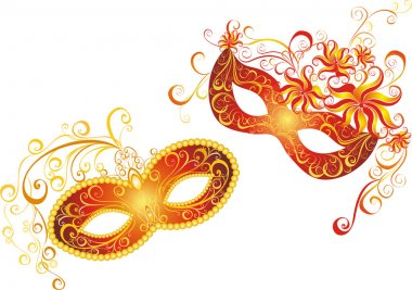 Masks for a masquerade. Vector party mask.