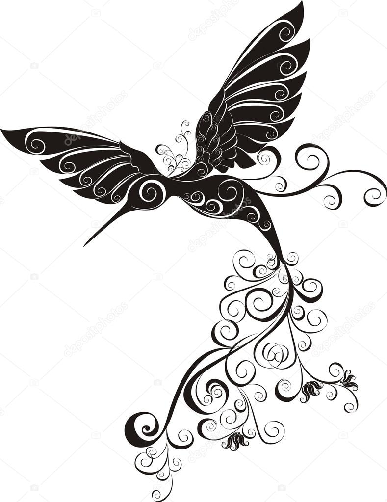 Wektor Tatuaż Koliber Grafika Wektorowa Marina99 34853687