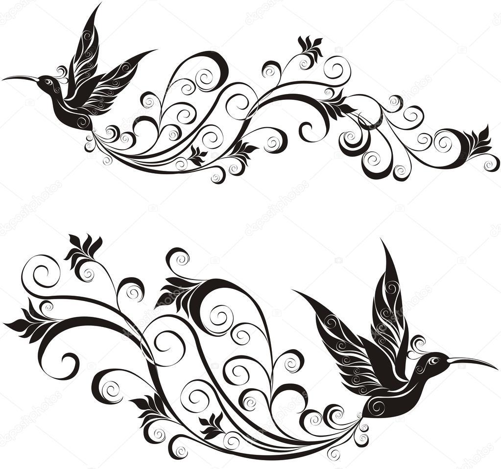 Wektor Tatuaż Koliber Grafika Wektorowa Marina99 34853963
