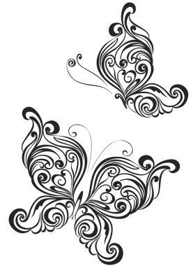 Set of butterflies tattoo