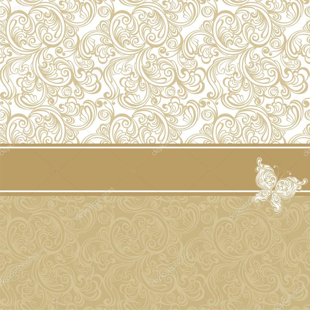Vintage Hintergrund Mit Blumenmuster Stockvektor Marina99 35174863