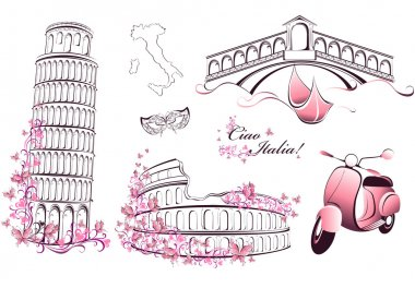 Famous landmarks of Italy - Rome, Venice, Pisa