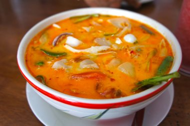 Tom Yum Soup, Thai Food.  Tom Yam - Spicy clear soup typical in Thailand.