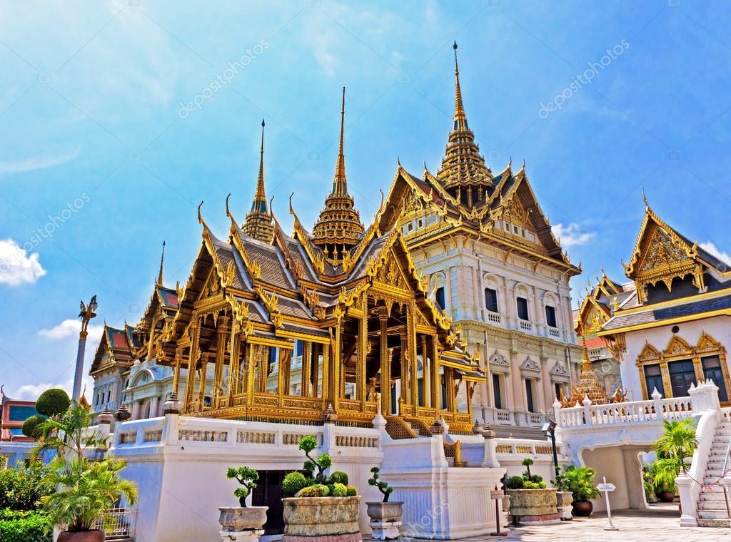 Temple in Grand Palace Emerald Buddha (Wat Phra Kaew), Bangkok, Thailand