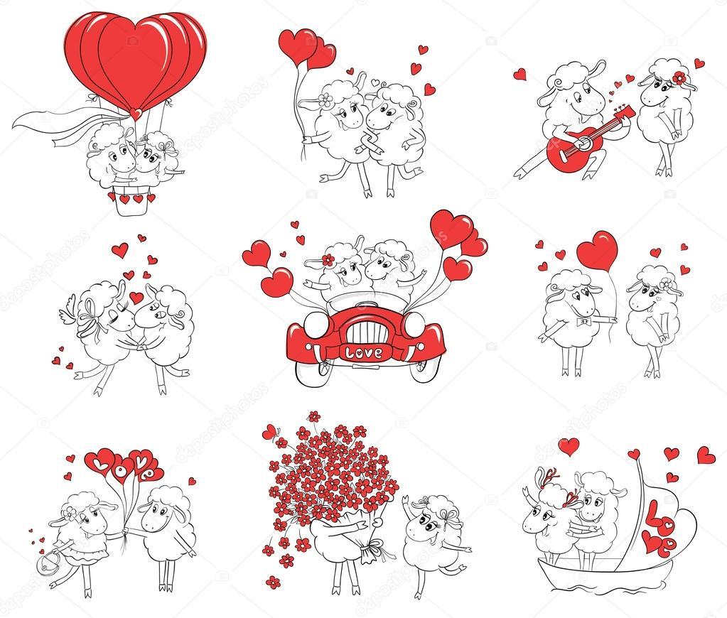 Paar Verliebt Menge Lustige Bilder Happy Schaf Idee F R Gru Karte