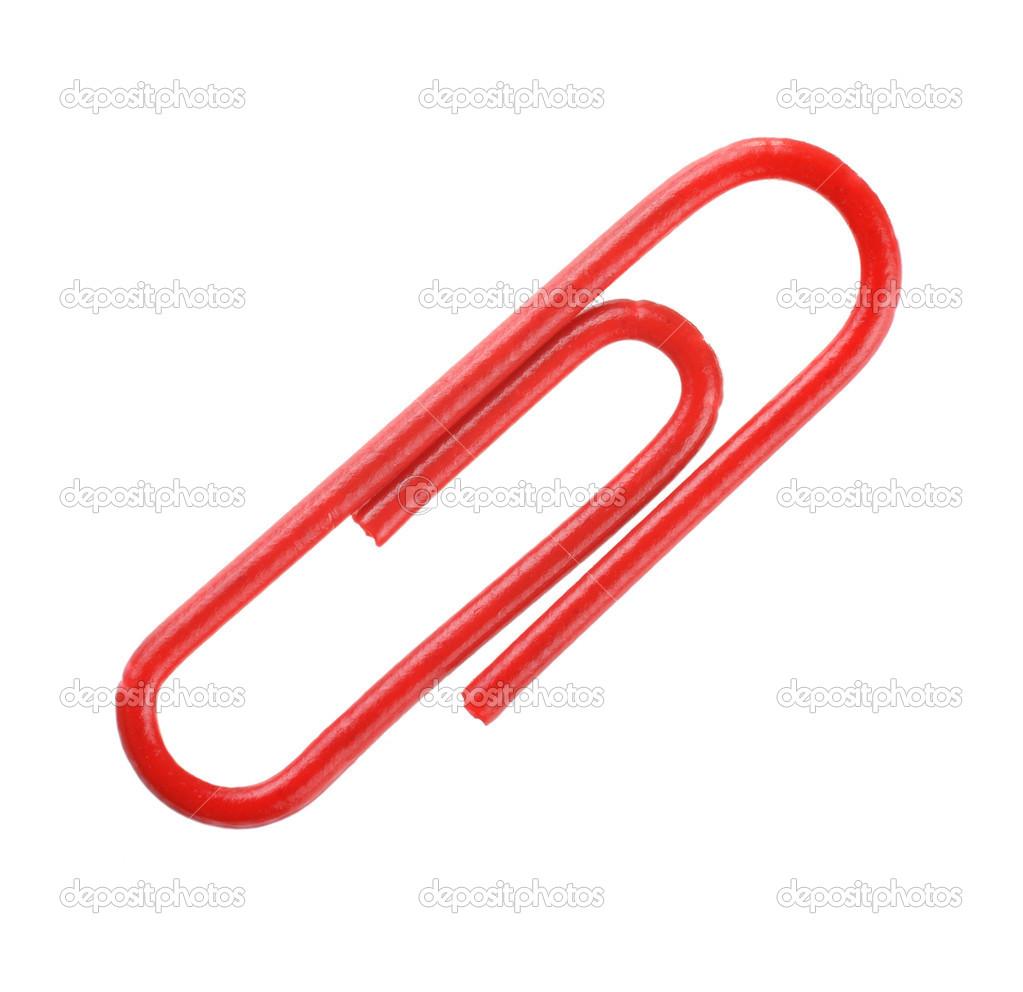 rote Büroklammer — Stockfoto © Alexan66 #23446834
