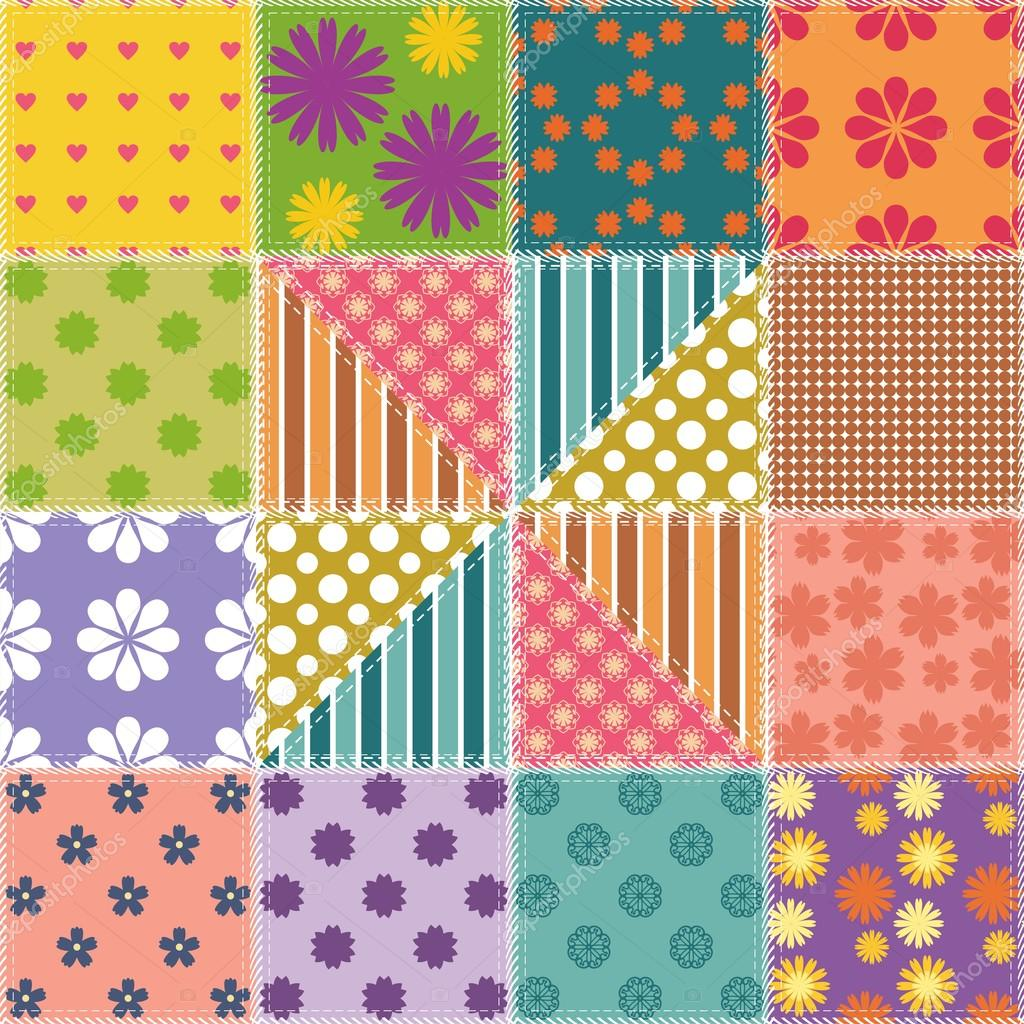 patchwork background patchwork background with different patterns stock 2252