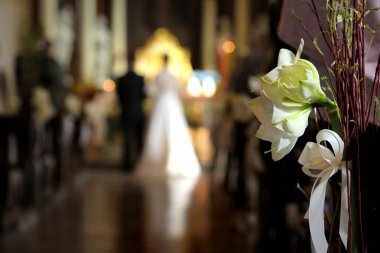 White flower wedding decoration