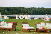Fotografie Huge LOVE letters as a fancy wedding decoration