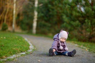 Adorable girl in a park