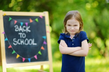 girl  unhappy  going to school