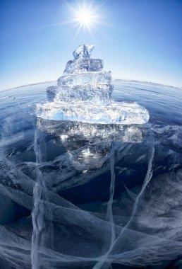 Ice ship on winter Baical