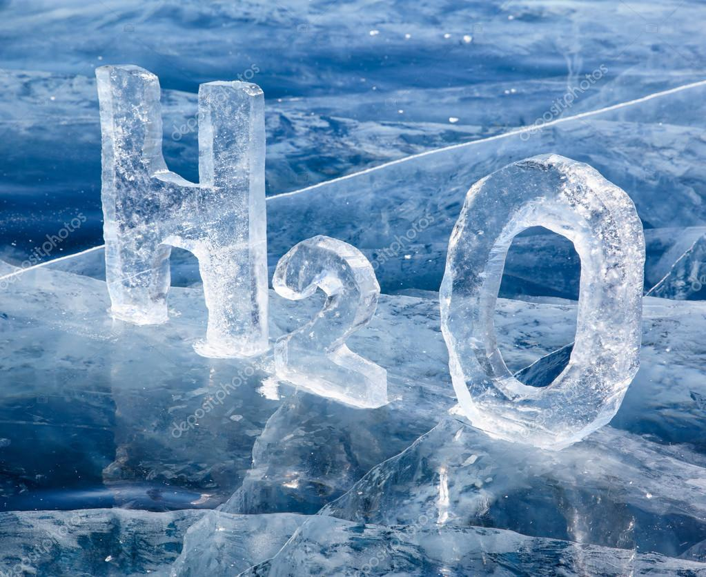 Chemical formula of water h2o stock photo zastavkin 31049399 chemical formula of water h2o made from ice on winter frozen lake baikal photo by zastavkin buycottarizona Choice Image