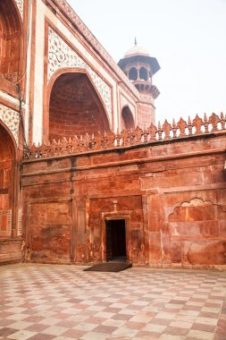 Closeup on Great Gate in Agra, India