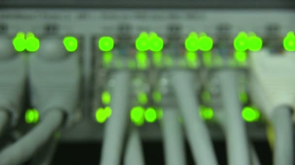 kabely a připojení na síťovém serveru