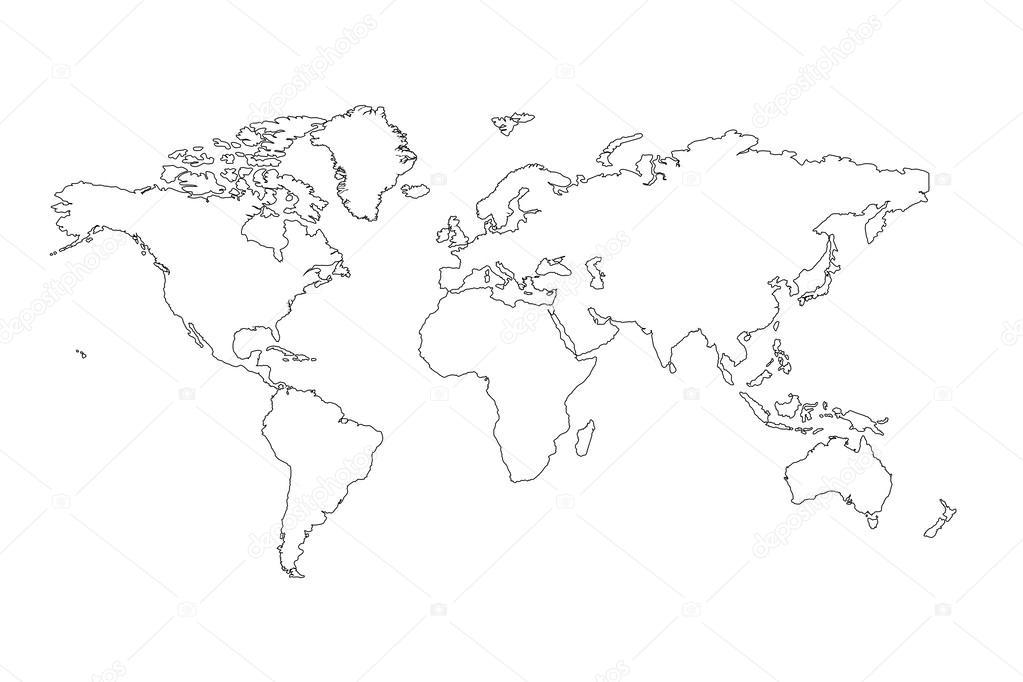 global map outline