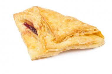 puff pastry isolated