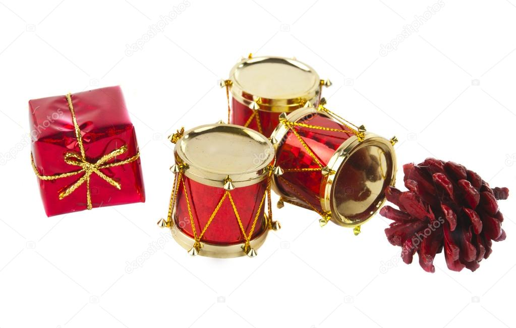 Christmas Drum.Christmas Drum Isolated Stock Photo C Ksena32 14325703