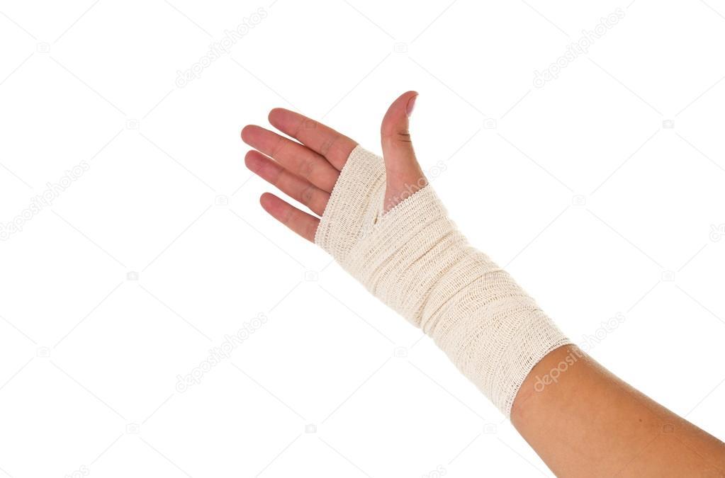 Hand Tied Elastic Bandage Stock Photo C Ksena32 15877611