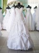 Wedding dresses on dummies