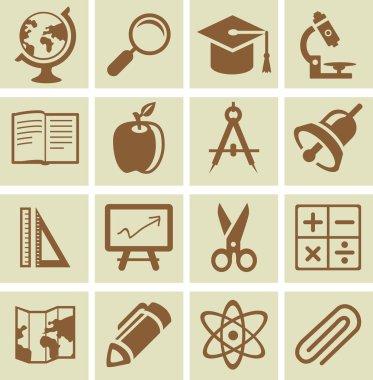 Vector design elements for school and university