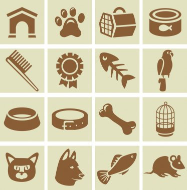Vector design elements for veterinary
