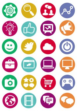 Vector internet and technology icons