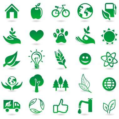 Vector ecology signs and icons