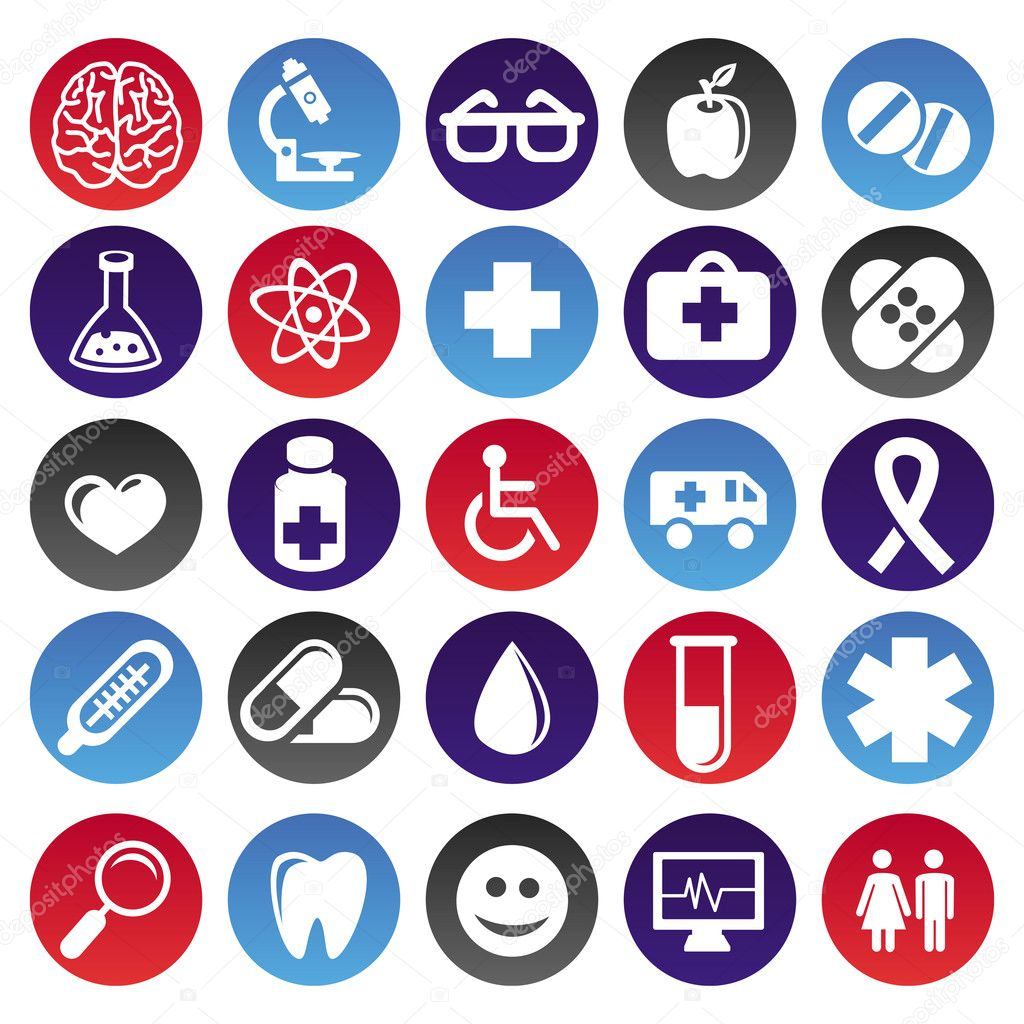 Vector medical icons and signs