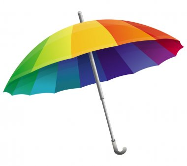 Vector umbrella in rainbow colors
