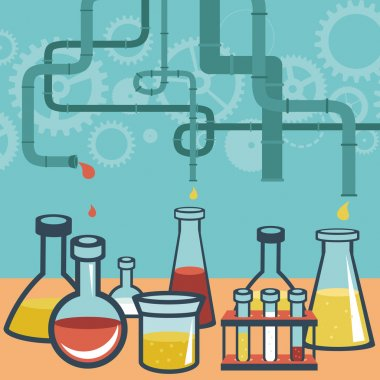 Vector concept - chemistry and science research