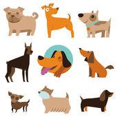 Fotografie Vektor-Menge lustige Cartoon Hunde