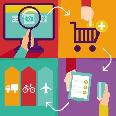 Vector internet shopping infographics