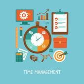 vektorové koncept v plochý - řízení času