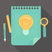 vektorové tvůrčí projekt - ikony v ploché styl