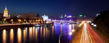 Russia-23.05.2014,  Moscow panorama view on the river from the b
