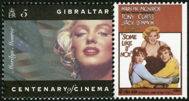 GIBRALTAR - 1995: shows Marilyn Monroe, Tony Curtis, Jack Lemmon,