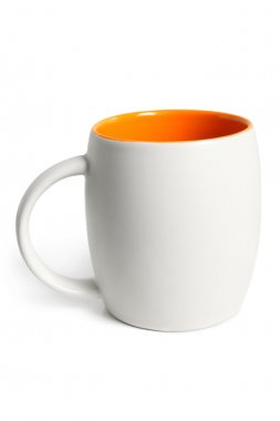 White cup with orange inside