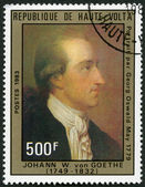 UPPER VOLTA - 1983: shows Johann Wolfgang von Goethe, by Georg Oswald May, 1779